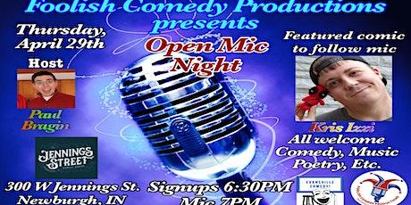 Open Mic Night at Jennings Street Public House tickets