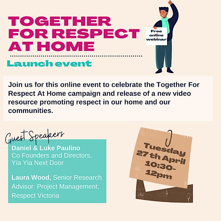 Together For Respect At Home- Launch Event image