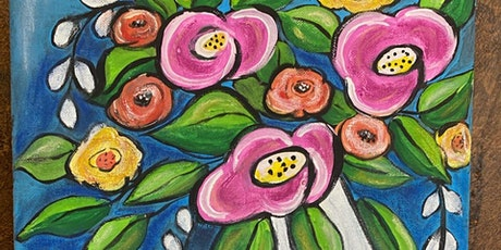 Abstract Floral  Painting Class tickets