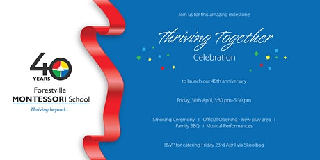 Forestville Montessori School - 40th Anniversary Celebration tickets