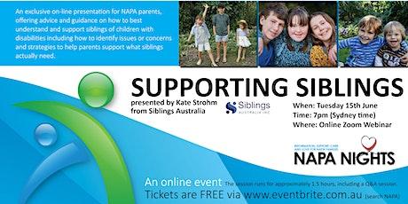 NAPA Nights: Supporting  Siblings tickets