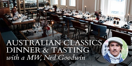 Australian Classics with an MW Dinner and Tasting 19th May 6:30pm tickets