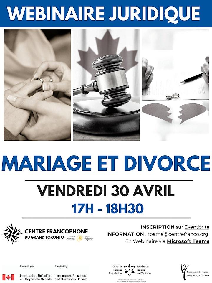 Webinaire juridique: Mariage et divorce image