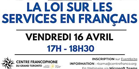 Webinaire juridique : La loi sur les services en français tickets