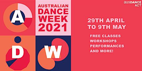 Ausdance ACT 2021 Australian Dance Week Launch tickets