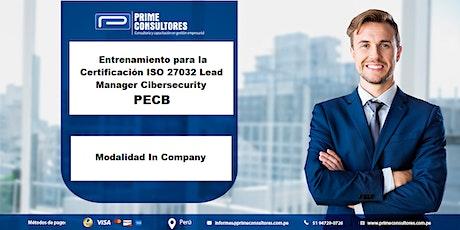 Certificación ISO 27032 Líder Cibersecurity Manager / In Company - Perú entradas