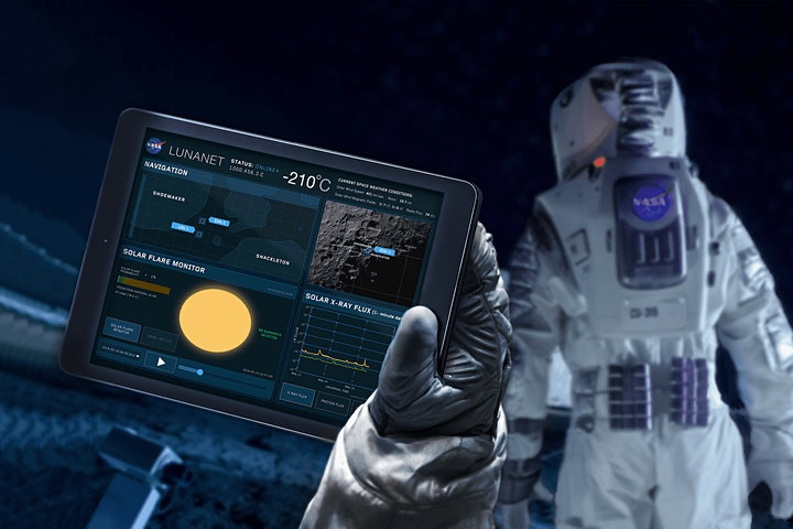 """""""LunaNet: NASA's Wireless Network on the Moon"""" image"""