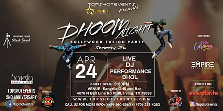 DHOOM NIGHT | BOLLYWOOD FUSION PARTY tickets