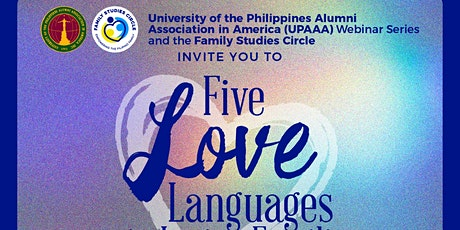 UPAAA Webinar : FIVE LANGUAGES OF LOVE in LOVING FAMILIES entradas