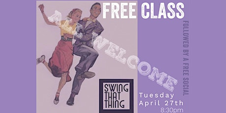 FREE SWING CLASS AND SOCIAL tickets