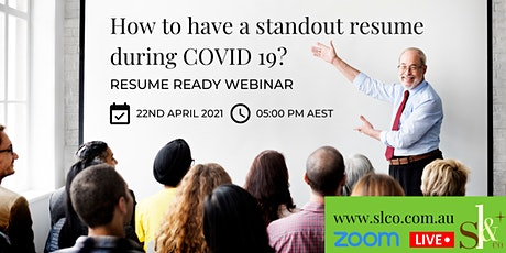 Free webinar: How to have a standout resume during COVID? tickets
