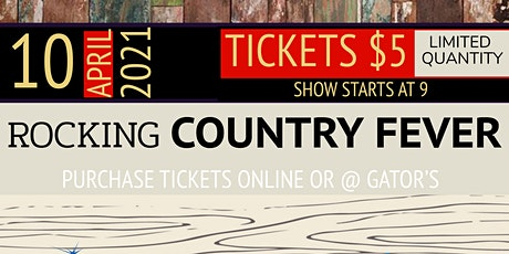 Rocking Country Fever at Gator's tickets