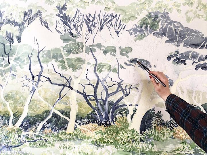 Lauren Guymer Workshop: Exploring landscapes in watercolour image