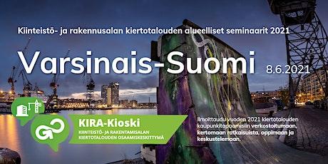 KIRA-alan kiertotalous Varsinais-Suomessa - verkostoitumistapaaminen tickets