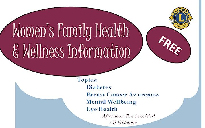 Women's Family Health & Wellness Information image