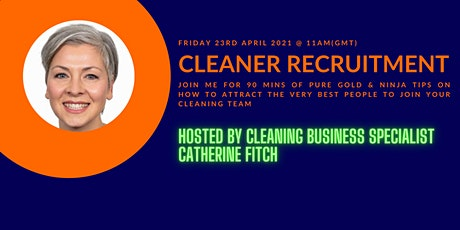 FREE Webinar on Cleaner Recruitment tickets
