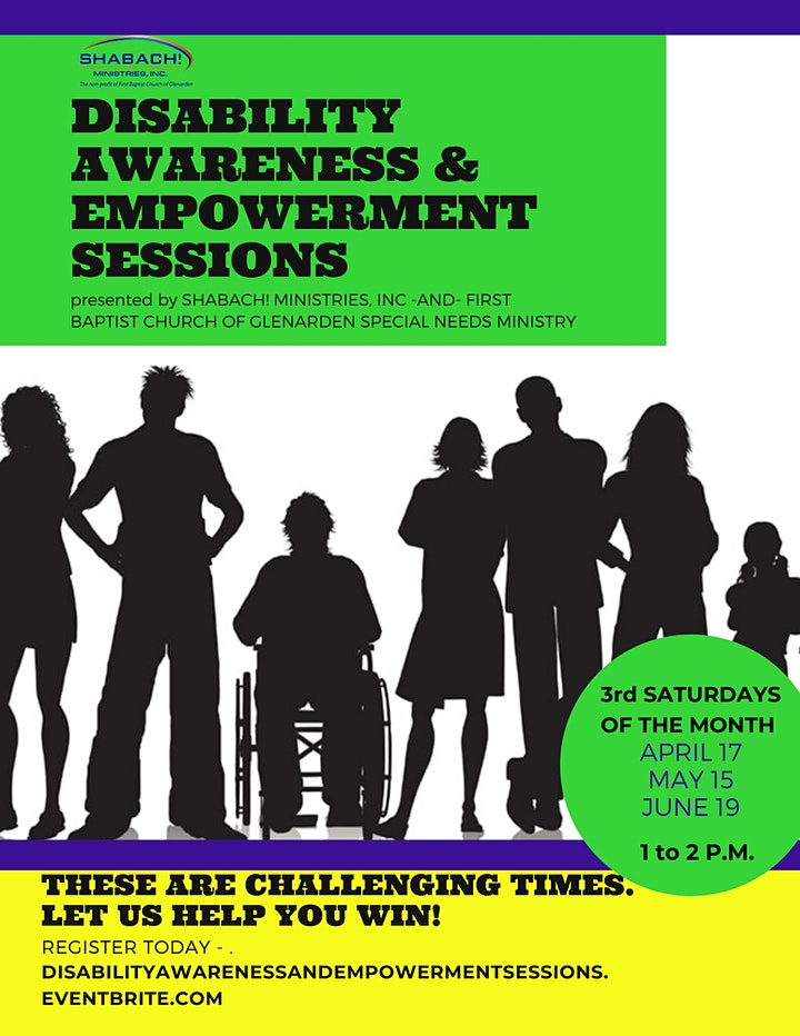 Disability Awareness & Empowerment Sessions  FREE VIRTUAL WORKSHOP image