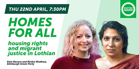 Homes for all: housing rights and migrant justice in Lothian tickets