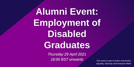 Alumni Event: Employment of Disabled Graduates tickets