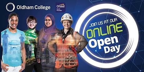 Oldham College ONLINE Open Day | Saturday 24th April, 10am-1pm tickets