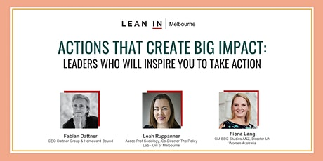 Actions that create big impact: Leaders who will inspire you to take action tickets
