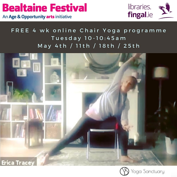 4 Week Chair Yoga with Erica brought to you by Fingal libraries image
