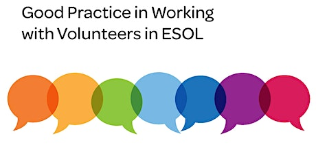 National Discussion: Working with Volunteers in ESOL tickets