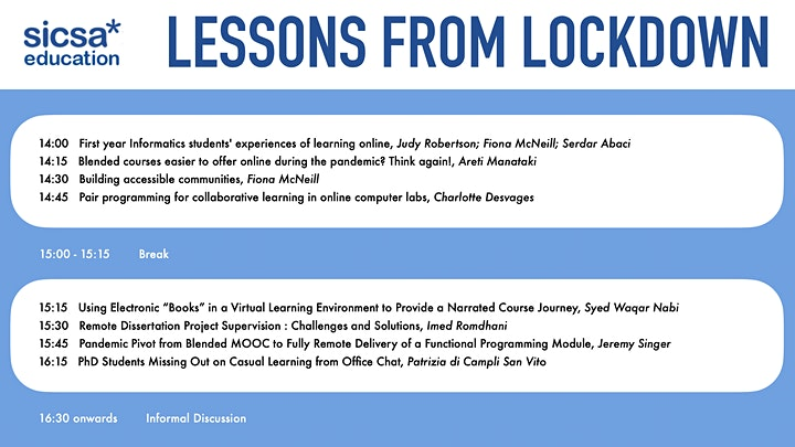 SICSA Education presents: Lessons from Lockdown image