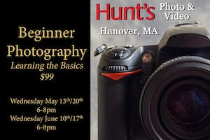 Beginner Photography- Hanover, MA Only