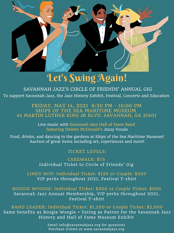 Savannah Jazz's Circle of Friends' Annual Gig image