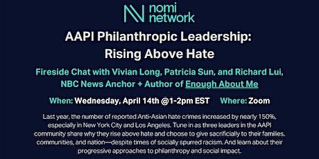 AAPI Philanthropic Leadership: Rising Above Hate tickets