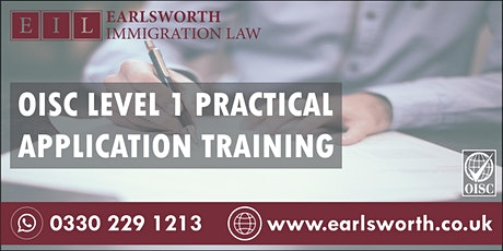 OISC Level 1 Practical Application Training tickets