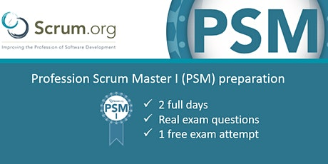 Professional Scrum Master I (PSM I) certification tickets