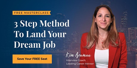 3 Step Method To Land Your Dream Job bilhetes