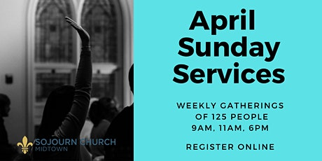 April 25,2021  Sunday Service Registration tickets