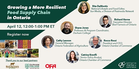 Growing a More Resilient  Food Supply Chain in Ontario tickets