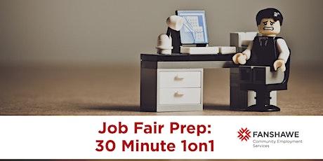 Job Fair Prep: 30 Minute 1on1 Appointment (Virtual) tickets