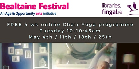 4 Week Chair Yoga with Erica brought to you by Fingal libraries tickets