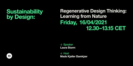 Sustainability by Design: Regenerative Design Thinking tickets