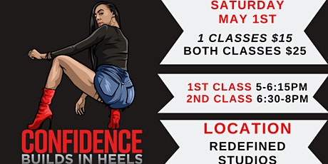 Confidence Builds In Heels Cincinnati (MAY 1st Class) tickets