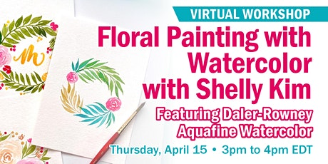 Floral Painting with Watercolor with Shelly Kim tickets