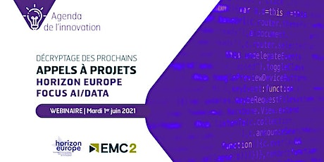 "Agenda de l'innovation ""Horizon Europe : focus AI/data"" billets"