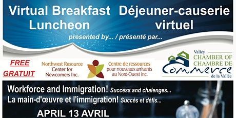 Virtual Breakfast Luncheon April 13 / Déjeuner-causerie virtuel 13 avril billets