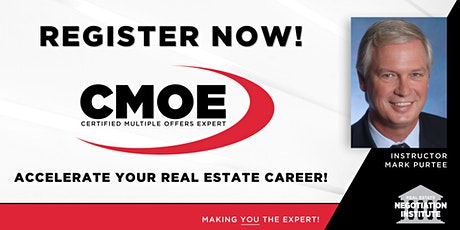 Certified Multiple Offers Expert (CMOE) -  Zoom Class (Mark Purtee) tickets
