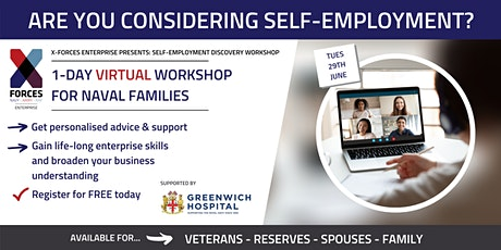 Naval Families: Self Employment Discovery Virtual Workshop tickets