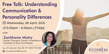 Free Talk: Understanding Communication & Personality with Zankhana Mistry tickets
