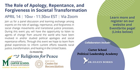 The role of apology, repentance, and forgiveness in societal transformation tickets