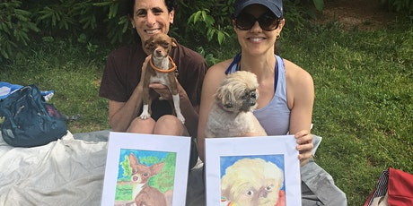 Earth DAY PICNIC Paint and Sip Pet Portrait- Central Park New York tickets