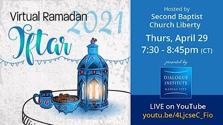 Virtual Ramadan Iftar With Second Baptist Church Liberty image