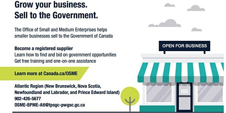 Doing Business with the Government of Canada (French Webinar) tickets